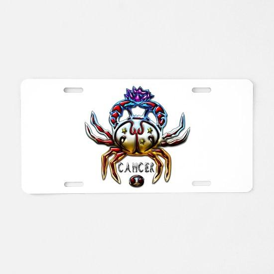 Cancer Crab Zodiac Art Aluminum License Plate