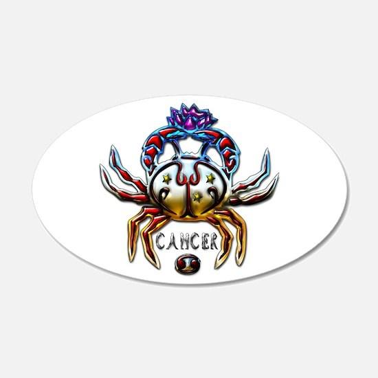 Cancer Crab Zodiac Art 22x14 Oval Wall Peel