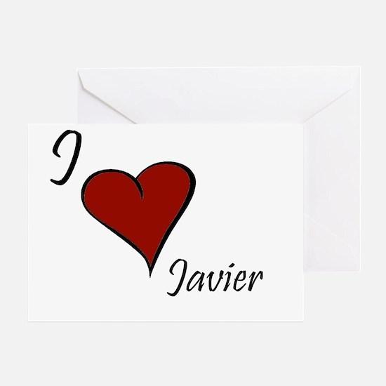 I love Javier Greeting Card