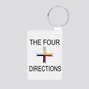 """""""The Four Directions"""" Aluminum Photo Keychain"""