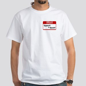 """Hello, my country is..."" White T-Shirt"