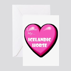 I Love My Icelandic Horse Greeting Cards (Package
