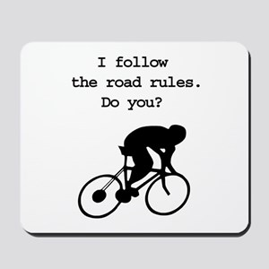 Road rules cycling Mousepad