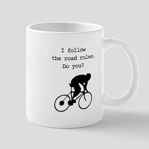 Road rules cycling Mug