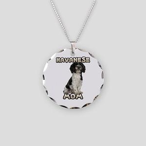 Havanese Mom Necklace Circle Charm