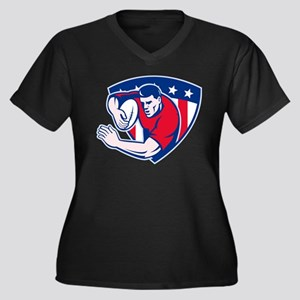 American rugby player Women's Plus Size V-Neck Dar
