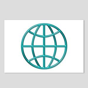 """Aqua Globe"" Postcards (Package of 8)"