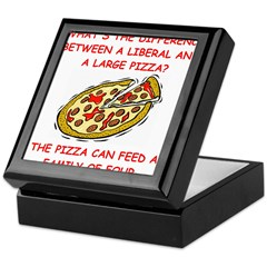 liberal joke Keepsake Box