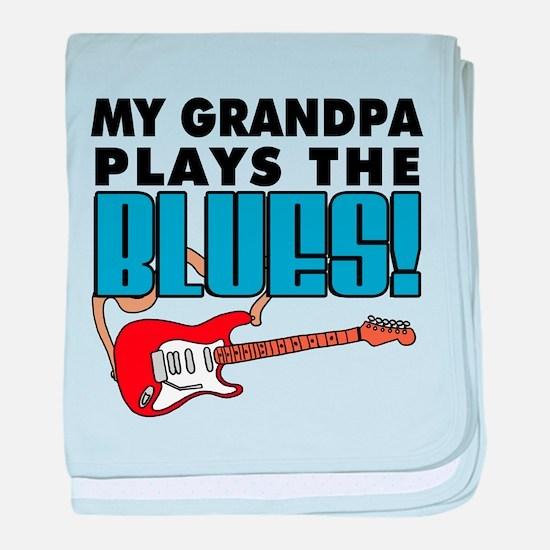 My Grandpa Plays The Blues baby blanket
