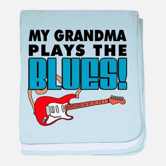 My Grandma Plays The Blues baby blanket