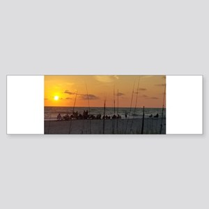 Side sunset Bumper Sticker