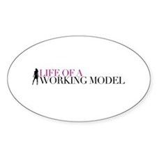 Life Of A Working Model Sticker