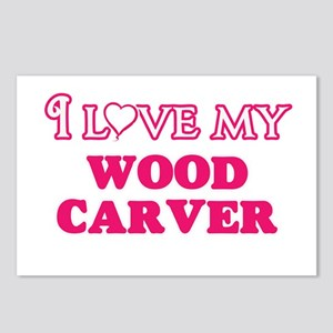 I love my Wood Carver Postcards (Package of 8)