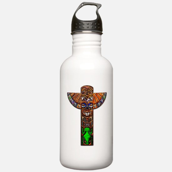 OiJbwe Indian Totem Pole Water Bottle