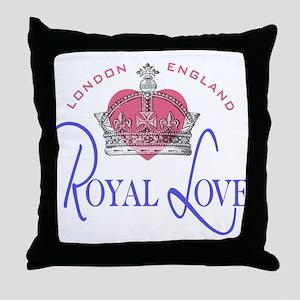 London England Royal Love Throw Pillow