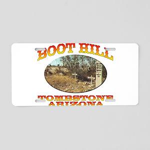 Boot Hill Aluminum License Plate