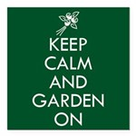 Keep Calm and Garden On Square Car Magnet 3