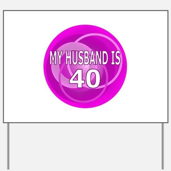 Happy 40Th Birthday Happy 40th Birthday Yard Signs