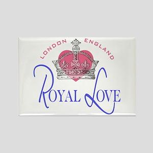 London England Royal Love Rectangle Magnet