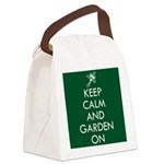 Keep Calm and Garden On Canvas Lunch Bag