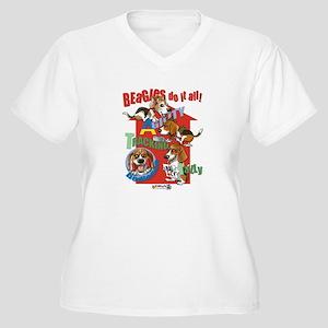 Beagles Do It All Women's Plus Size V-Neck T-Shirt