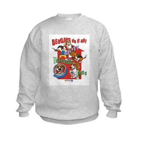 Beagles Do It All Kids Sweatshirt