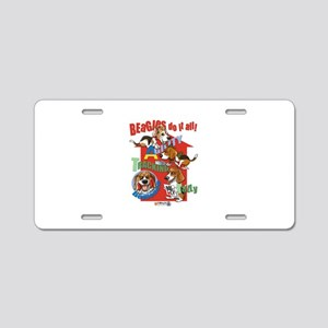 Beagles Do It All Aluminum License Plate