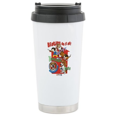 Beagles Do It All Stainless Steel Travel Mug