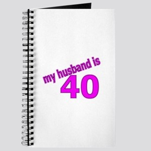 Funny Husband Is 40 Gifts Journal