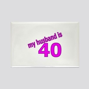 Funny Husband Is 40 Gifts Rectangle Magnet