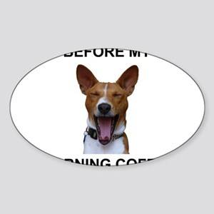 Coffee Yawn Sticker (Oval)