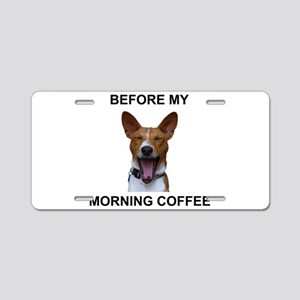 Coffee Yawn Aluminum License Plate