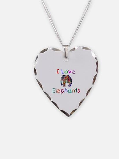 I Love Elephants Necklace