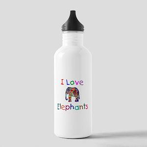 I Love Elephants Stainless Water Bottle 1.0L