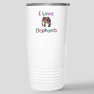 I Love Elephants Stainless Steel Travel Mug