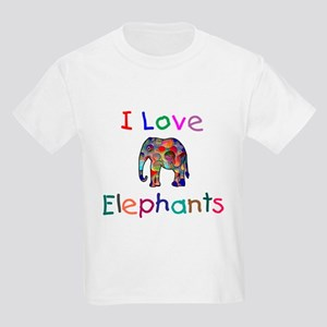 I Love Elephants Kids Light T-Shirt