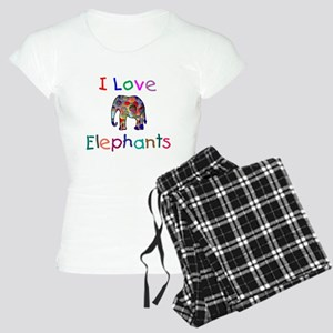 I Love Elephants Women's Light Pajamas