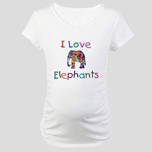 I Love Elephants Maternity T-Shirt