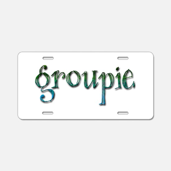 Groupie Aluminum License Plate