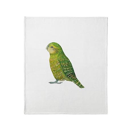 Kakapo Female Throw Blanket