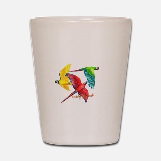 Macaws Shot Glass