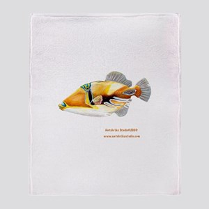 Picasso triggerfish Throw Blanket