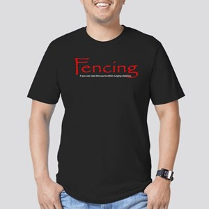 Lunging Distance Men's Fitted Black T-Shirt