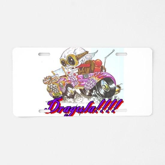 Funny Rat rod Aluminum License Plate