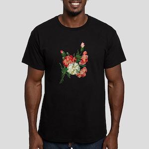carnation Men's Fitted T-Shirt (dark)
