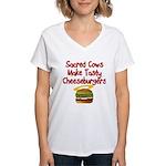 Sacred Cows Women's V-Neck T-Shirt