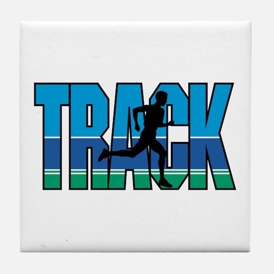 Cute Track field Tile Coaster