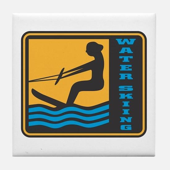 Cute Surfer tanks Tile Coaster