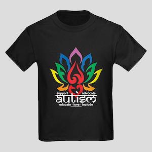 Autism Lotus Flower Kids Dark T-Shirt