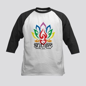 Autism Lotus Flower Kids Baseball Jersey